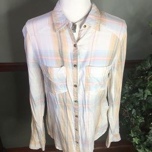 Maurice's M Plaid Button Up